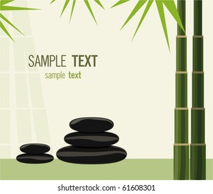 Spa stones and bamboo