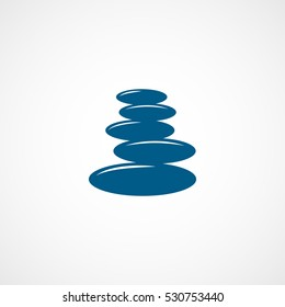 Spa Stones Blue Flat Icon On White Background