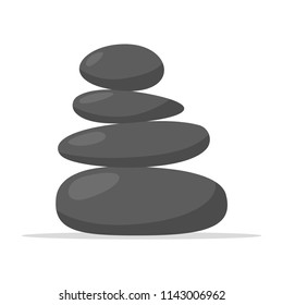 Spa stones icon. Relaxation and rest. Vector illustration on white background