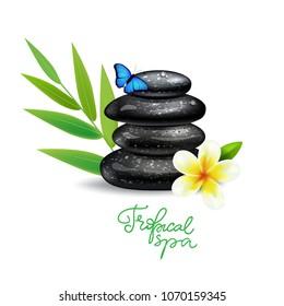 Spa stones stack logo sign. Good for spa, yoga center,wellness, beauty salon and medicine designs