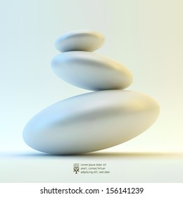 Spa stones. Vector 3d illustration.