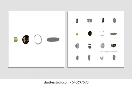 SPA theme template with vector abstract stone illustrations. Minimalist concept