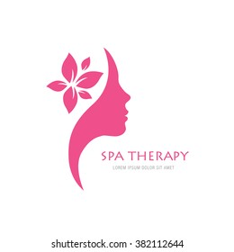 spa therapy logo concept