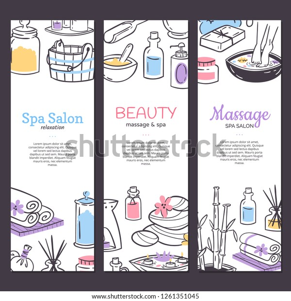 Spa Treatment Banner Background Design Cosmetics Stock Vector Royalty Free 1261351045