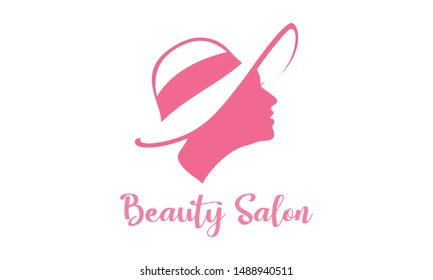 Spa treatment salon logo.  Beauty woman salon logo