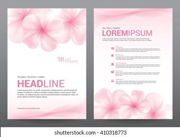 Spa Wellness Medical topic Template elements, Presentation, brochure poster flyer leaflet, vector illustration design
