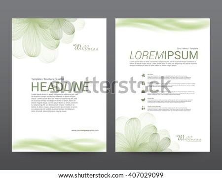 spa wellness medical topic template elements のベクター画像素材
