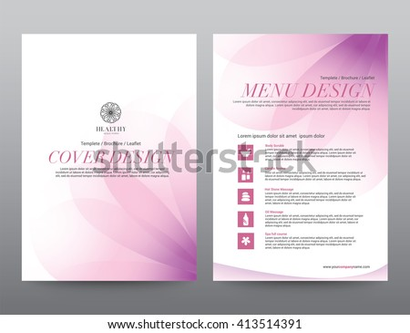 spa wellness medical topic template elements stock vector royalty
