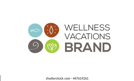 Spa and wellness vector logo template. Health care sign (symbol, icon, illustration)