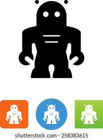 Space age robot icon