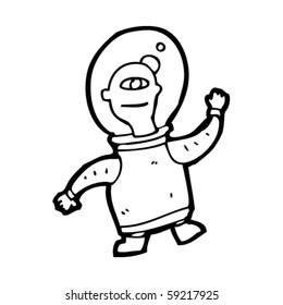space alien cartoon