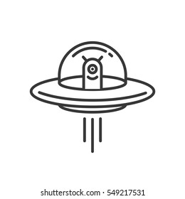 Space Aliens. UFO icon.