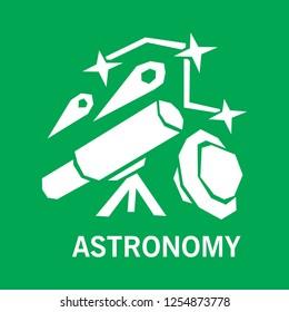 Space astronomy icon