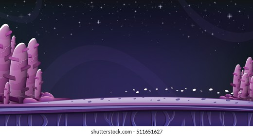 Space background for game or design. Vector illustration