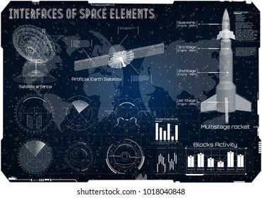 Space Tech Rocket Stock Vectors, Images & Vector Art