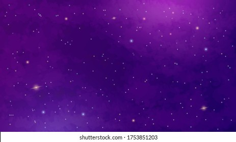 Space background with realistic nebula and shining stars. Colorful cosmos. Magic color galaxy. Infinite universe and starry night. Vector illustration.