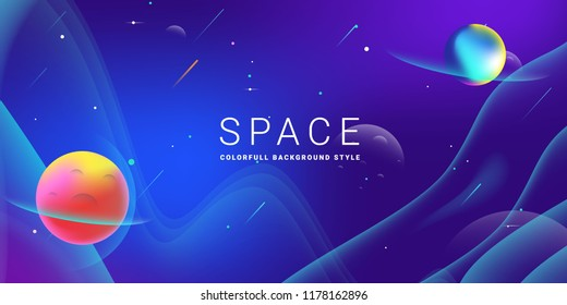 space background vector illustration