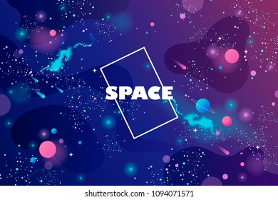 space banner. cosmos. universe. infinity. vector illustration