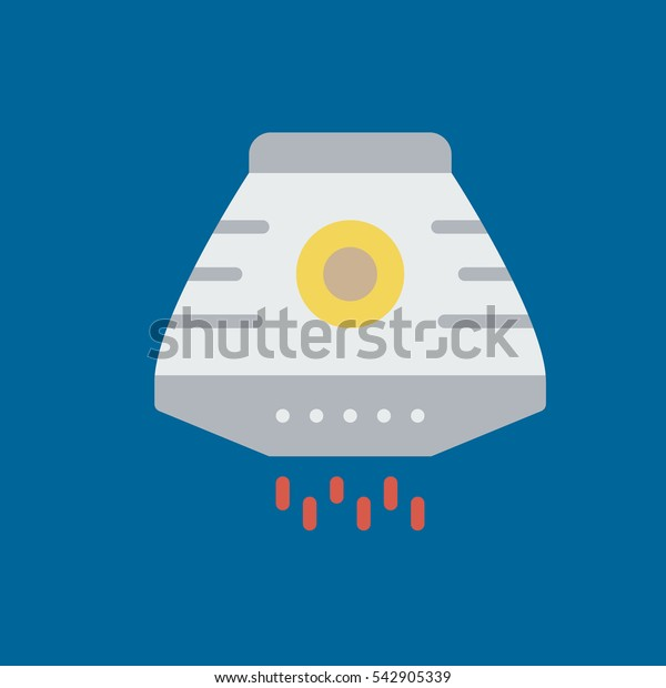 space capsule icon fat disign
