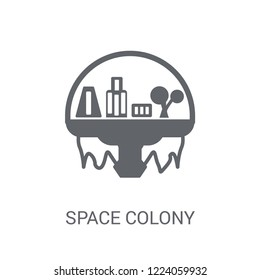 Space colony icon. Trendy Space colony logo concept on white background from Astronomy collection. Suitable for use on web apps, mobile apps and print media.