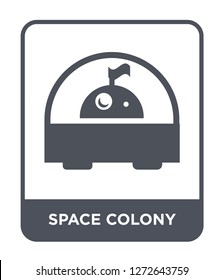 space colony icon vector on white background, space colony trendy filled icons from Astronomy collection, space colony simple element illustration