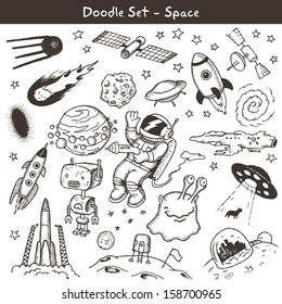 Space doodles -vector illustration