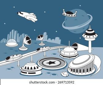 Space doodles -vector illustration