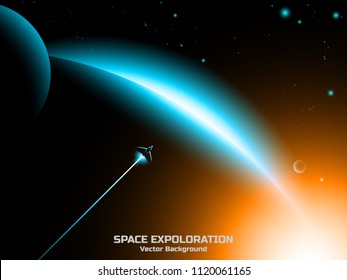 space exploration vector background