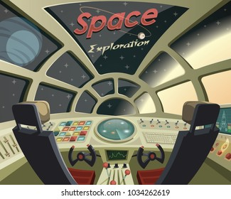 Space Exploration ,view from the spaceship cockpit