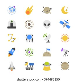 Space Flat Color Icons