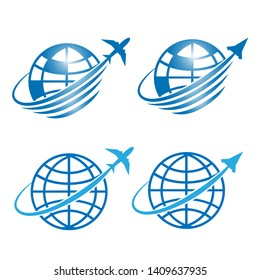 Space flight symbol and Travel logo icons design illustration vector