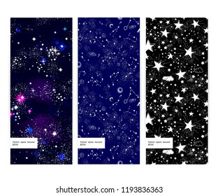 Space Galaxy constellation seamless pattern print could be used for textile, package design, zodiac star yoga mat, phone case