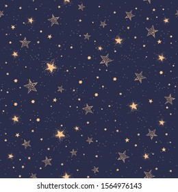 Space Galaxy constellation seamless pattern print could be used for textile, zodiac star yoga mat, phone case