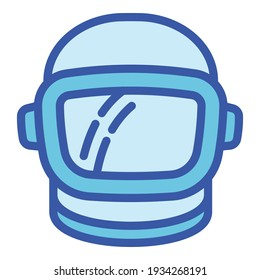 Space helmet icon. Outline space helmet vector icon for web design isolated on white background