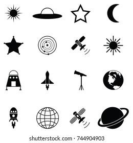space icon set