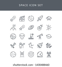 Space icon with style outline