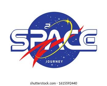 A Space Journey slogan t shirt print design