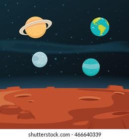 Space Landscape Background