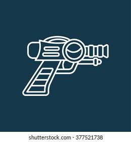 Space Laser Ray Gun. Gun toy icon