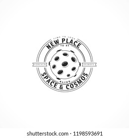 Space logo design elements. Beautiful illustration for sign, design brochure, invitation. Cosmos