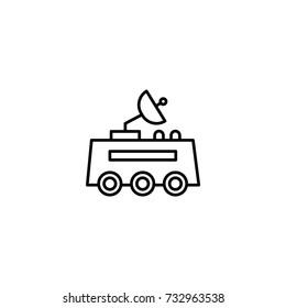 Space machine robot icon