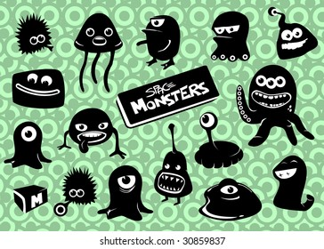 Space Monsters strikes back * each monster grouped separately