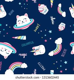Space  pattern illustration vector.