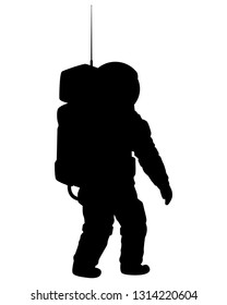 Space pilot silhouette vector