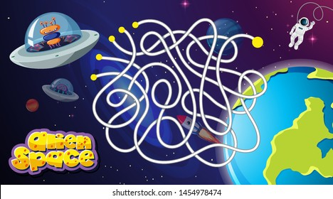 Space race game background illustration