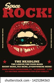Space Rock Gig Poster Flyer Template