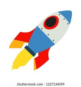 Space rocket emoji vector flat design