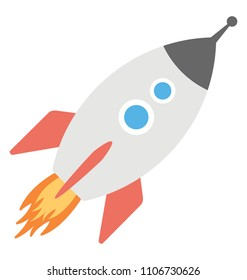 A space rocket representing startup or launching concept