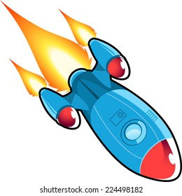 Space rocket  vector cartoon illustration