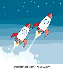 space rockets vector file